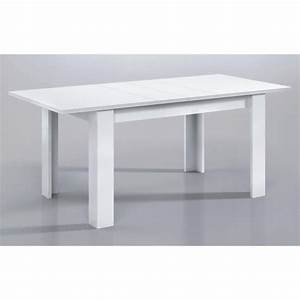 Kendra table extensible 140 190cm blanc brillant achat for Wonderful meuble chaussure porte manteau 6 kendra table extensible 140 190cm blanc brillant achat