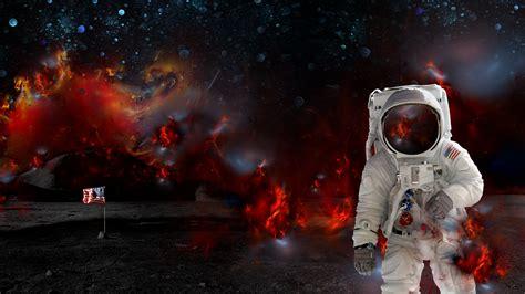 full hd wallpaper burn moon astronaut banner desktop