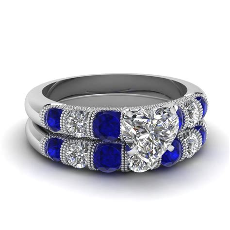 blue sapphire accent engagement rings fascinating diamonds