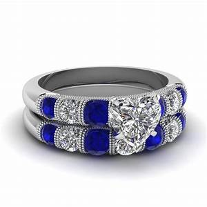 blue sapphire accent engagement rings fascinating diamonds With blue wedding ring sets