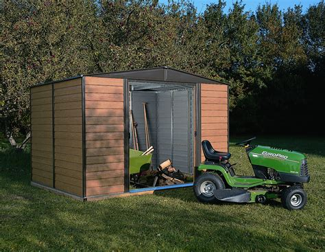 arrow woodridge shed wr108 steel storage shed