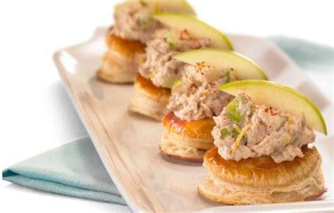 canape spread crisp apple and tuna spread canape banquet buffet food