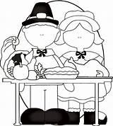 Thanksgiving Coloring Feast Freecraftz Pilgrims sketch template