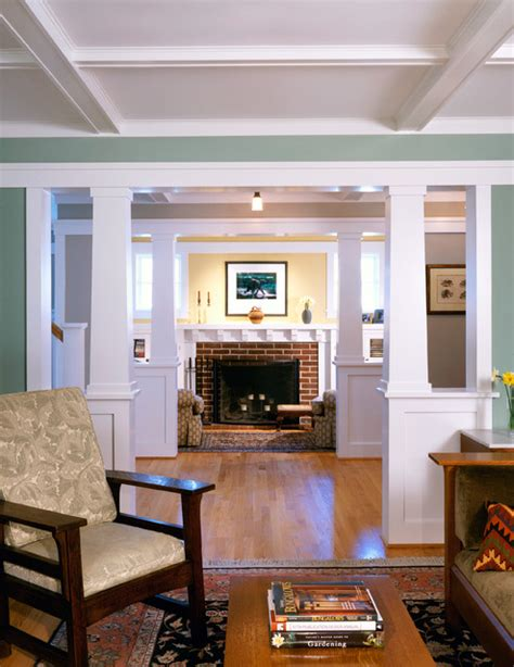 bungalow home interiors arlington bungalow craftsman living room dc metro by moore architects pc