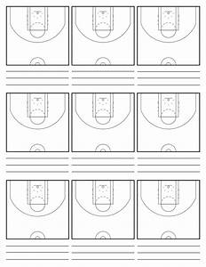 Basketball Court Diagram With Notes
