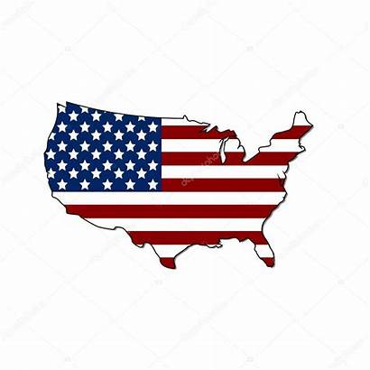 Staten Verenigde Kaart Stockillustratie Vlag Rokvel Depositphotos