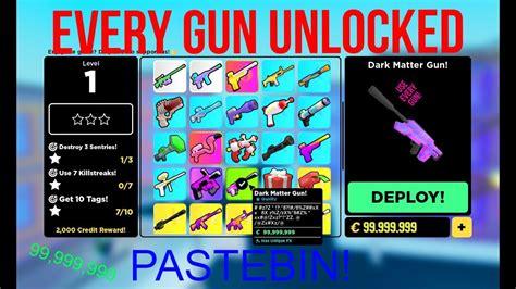 roblox big paintball unlock  guns script pastebin