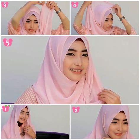 tutorial hijab pashmina sifon wajah bulatwide shawl sifon