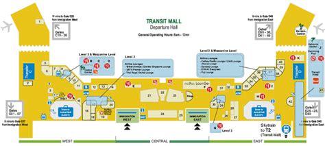 singapore changi airport map terminals