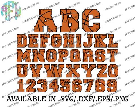 digital cut files basketball letters numbers winter svg