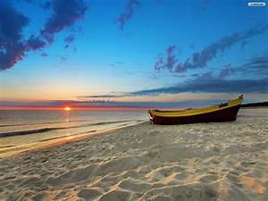 Beautiful Beach Sunset Wallpaper 1600x1200 | ImageBank.biz
