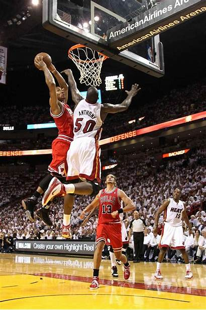Derrick Dunk Rose Nba Basketball Dunks Dunking