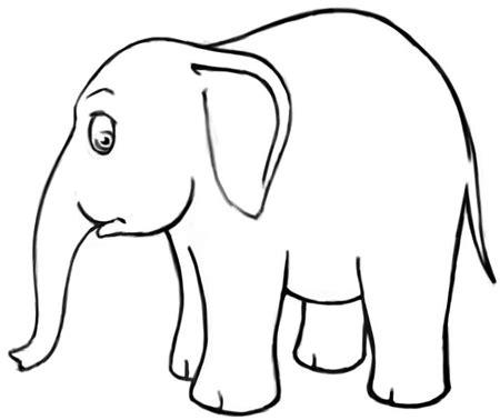 draw cartoon elephants  easy steps drawing