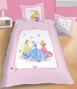 Lit Princesse 90x190 : parure housse de couette disney princesses ruban x cm taie ~ Teatrodelosmanantiales.com Idées de Décoration