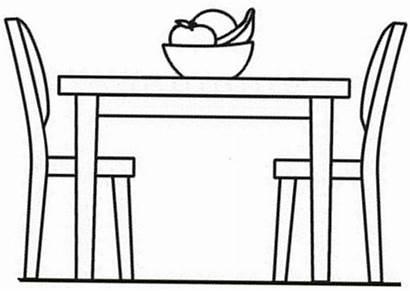 Table Coloring Pages Mesa Colorear Para