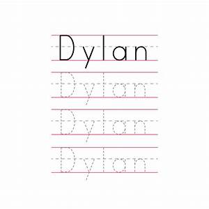 tracing name template 28 images tracing letters With free printable name tracing templates