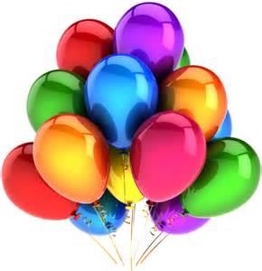 Rainbow Balloons Clip Art