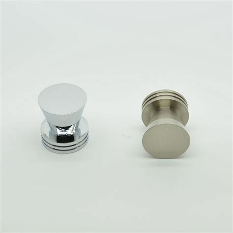 single hole cabinet pulls round flat top zinc alloy single hole cabinet knobs and