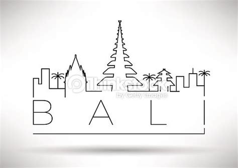 bali city  silhouette typographic design graphics