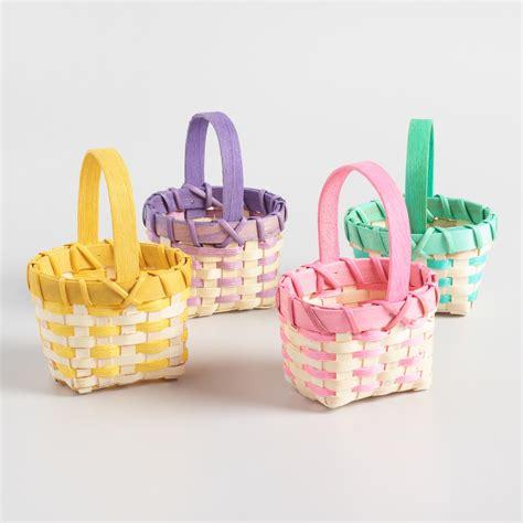 easter baskets mini rope easter baskets set of 4 world market