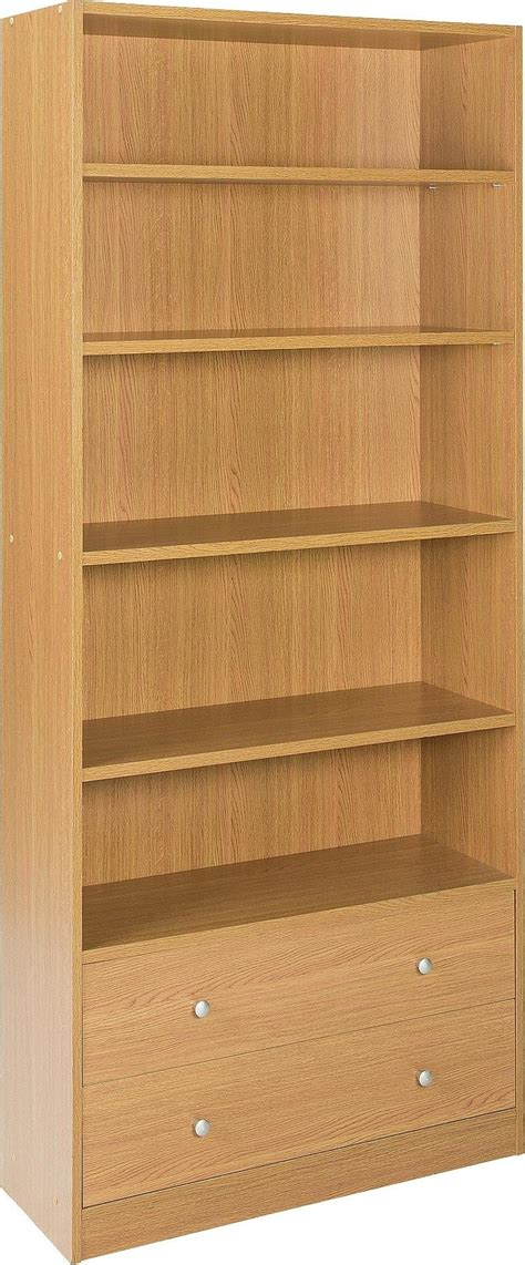 Argos Maine Bookcase by Argos Home Maine 4 Shelf 2 Drawer Bookcase Oak Effect