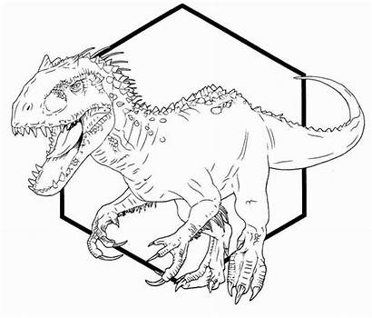 Rex Jurassic Indominus Coloring Pages Drawing Park