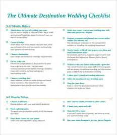 Destination Wedding Planning Checklist Printable