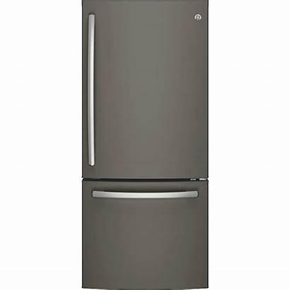 Freezer Ge Bottom Refrigerator Cu Ft Slate