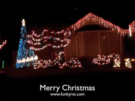 christmas light show xmas lights blink to music awesome