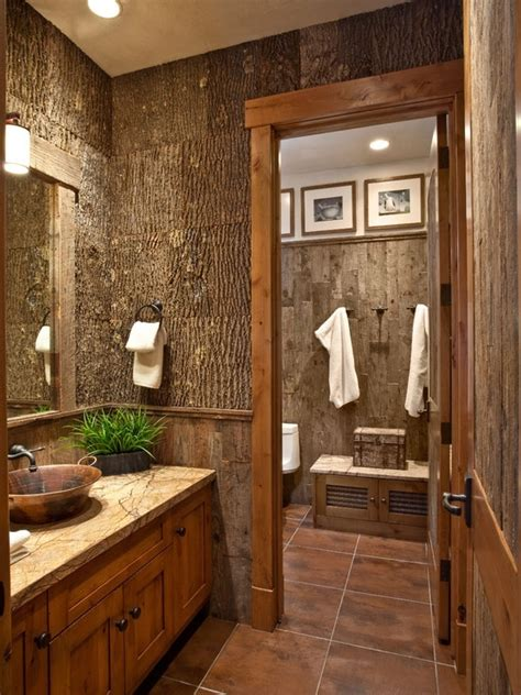 bathroom decor 22 best exles of rustic home decor mostbeautifulthings Cabin