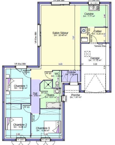 chambre salon am駭agement maison individuelle acco modèle saphir 95 à 127 600 faire construire ma maison acco charente maritime meilleur constructeur 17