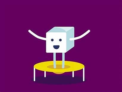 Sugar Jumping Animation Character Dribbble Trampoline