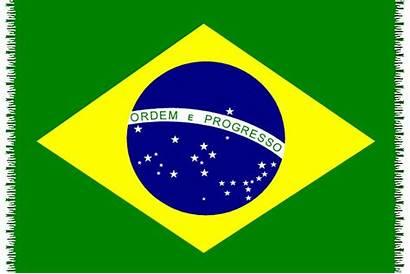 Flag Brasil Brazil Canga National Pareo Fringed