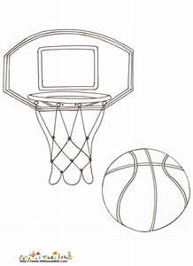 Pagné De Basket : panier de basket coloriage sur le sport ~ Teatrodelosmanantiales.com Idées de Décoration