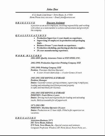 daycare assistant resume exles sles free edit with word