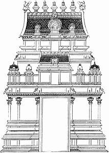 Free coloring pages of hindu temple