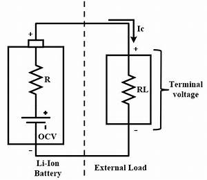 Battery Circuit Model With Internal Resistance