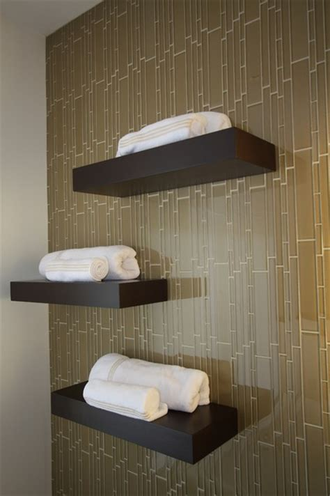 Decorating Bookshelves In Living Room by Bathroom Shelving Contemporary Bathroom Cleveland