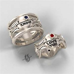 Star wars inspired wedding rings han and leia creative for Star wars wedding rings