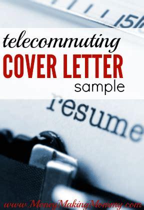 resume cover letter sample  telecommuting