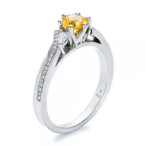yellow sapphire engagement rings custom yellow sapphire and engagement ring 100621 bellevue seattle joseph jewelry