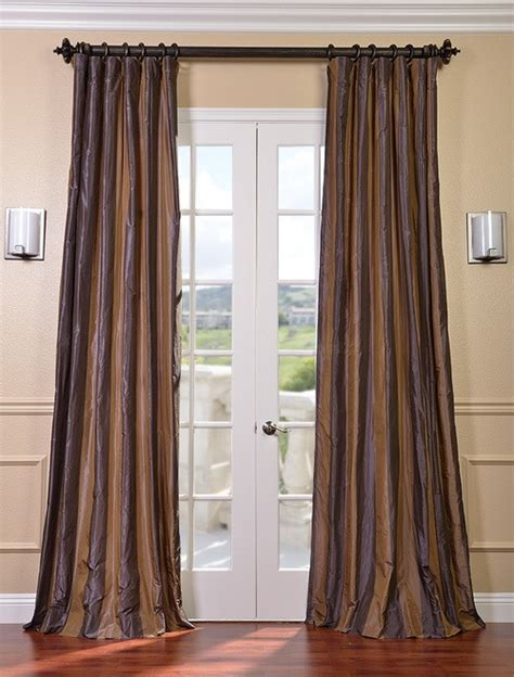 Silk Striped Drapes - verona faux silk taffeta stripe curtains drapes ebay