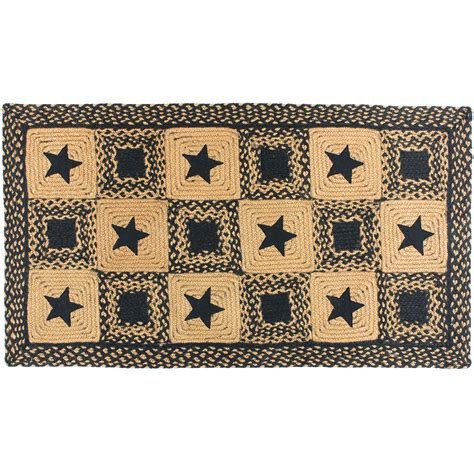 Primitive Rugs With - black rectangle braided rug primitive country black