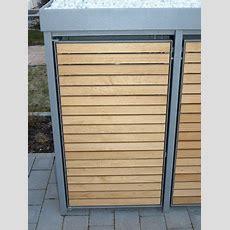 Mülltonnenbox Holz Lärche Mit Alu  Komplett Aus Lärche