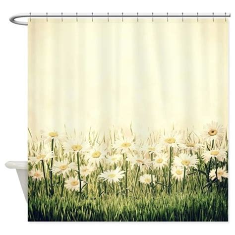 rustic daisies shower curtain by bestshowercurtains