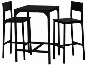 Ensemble table + 2 tabourets de bar LOKO coloris noir Vente de Ensemble table et chaise