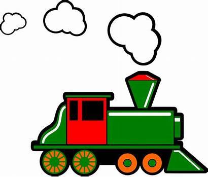 Train Steam Clipart Locomotive Clip Engine Cartoon