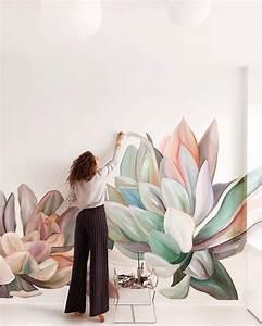 Murales, De, Flores, Que, Transforman, Simples, Habitaciones, En