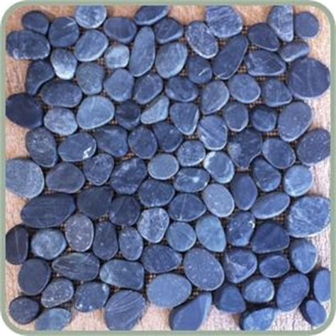 Sliced Pebble Tile Black by 1000 Images About Sliced Pebble Tiles On