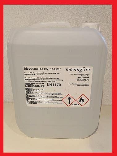 Bio ethanol bioethanol 100%  10 Liter Jerrycan